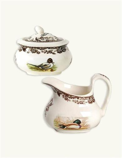 WOODLAND SPODE SUGAR AND CREAMER
