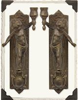 TORCHBEARER SCONCES (PAIR)