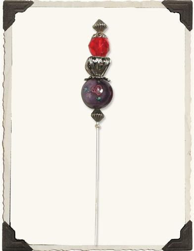 SOCIETY BEADED HATPIN