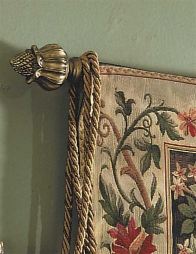 BRONZE TULIP PINEAPPLE FINIALS & ROD
