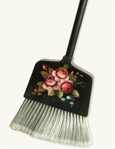 FAIRY TALE ROSES WOODEN BROOM