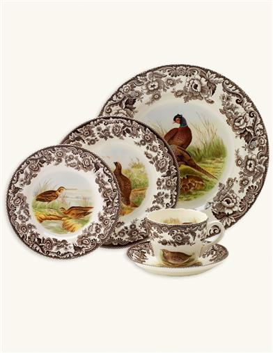 WOODLAND IMPERIAL WARE BY SPODE  (5 PIECE)