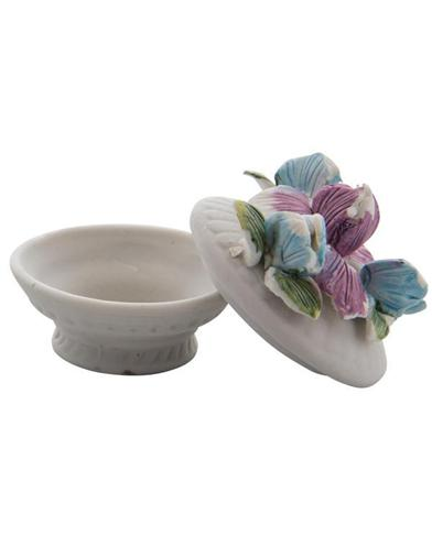 Lidded Floral Porcelain Boxes