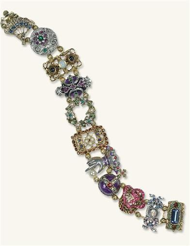 Victorian Costume Jewelry to Wear with Your Dress Balmoral Victorian Slide Bracelet $79.95 AT vintagedancer.com