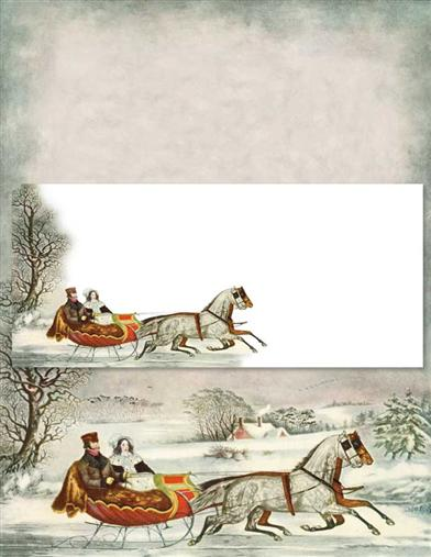 CURRIER & IVES STATIONERY (25  SHEETS & ENVELOPES)