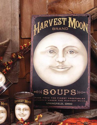 HARVEST MOON TIN SIGN