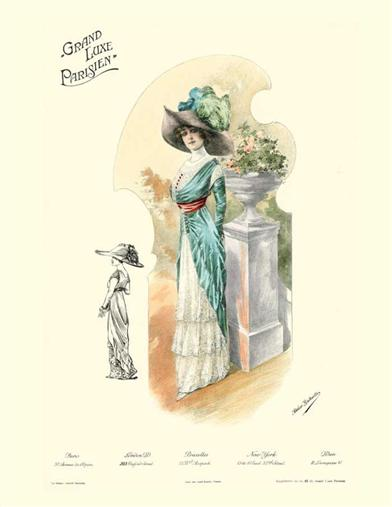 FASHION PLATE PRINT (UNFRAMED)