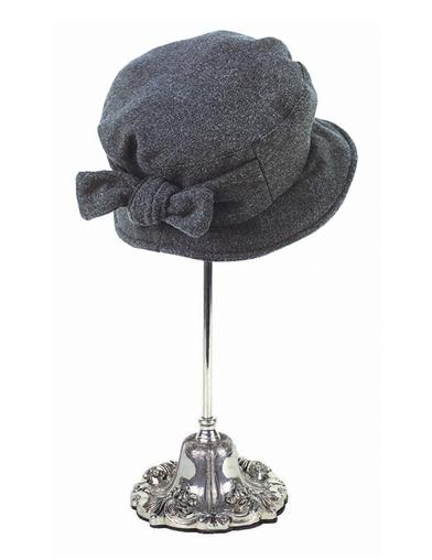 Women's Vintage Hats | Old Fashioned Hats | Retro Hats Jane Eyre Hat Charcoal $49.95 AT vintagedancer.com