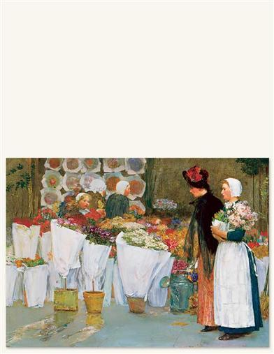 At The Florist Print (Unframed)
