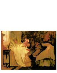 Man At Bedside (Pkg Of 6 Anniversary Cards)