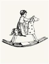 ROCKING HORSE RUBBER STAMP