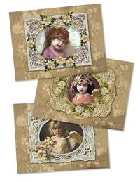 ANGEL FACE ASSORTMENT (PKG OF 15 HOLIDAY CARDS)