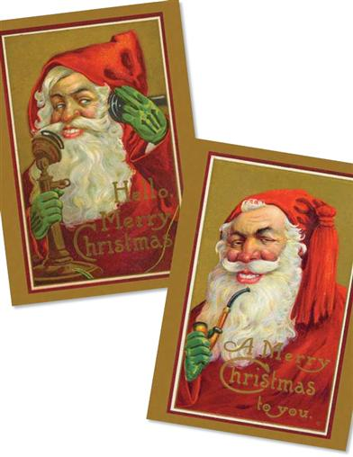 Santa Greengloves (Pkg Of 10 Fancies Cards)