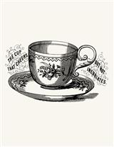 TEACUP RUBBER STAMP