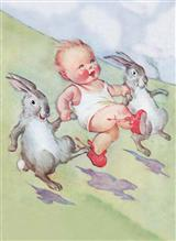 HOPPY EASTER (PKG OF 6 EASTER CARDS)