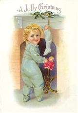 CHILD AT HEARTH (PKG OF 10 HOLIDAY CARDS)