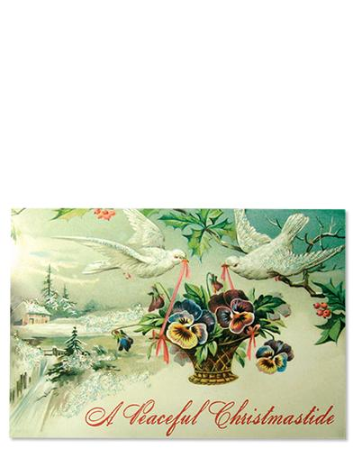 A PEACEFUL CHRISTMASTIDE(PKG OF 5 ARTISAN CARDS)