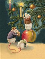 Christmas Mice (Pkg Of 10 Holiday Cards)