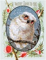 Merry Xmas Owl (Pkg Of 10 Holiday Cards)