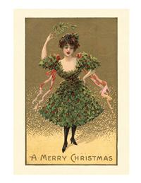 Holly Dress (Pkg Of 10 Holiday Cards)