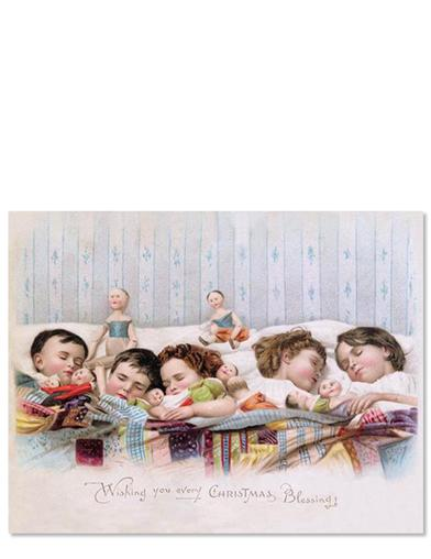 Sleeping Children (Pkg Of 10 Holiday Cards)