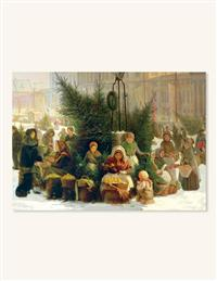 Selling Christmas Trees (Pkg Of 10 Holiday Cards)