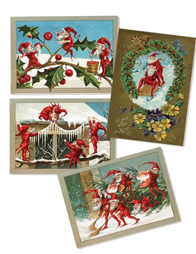 Holiday Elves (Pkg Of 12 Asst Holiday Cards)