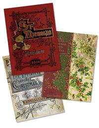 Antique Book Cover Holiday Card Asst (Pkg Of 15)