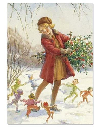 Dancing Fairies Holiday Card (Pkg Of 10)