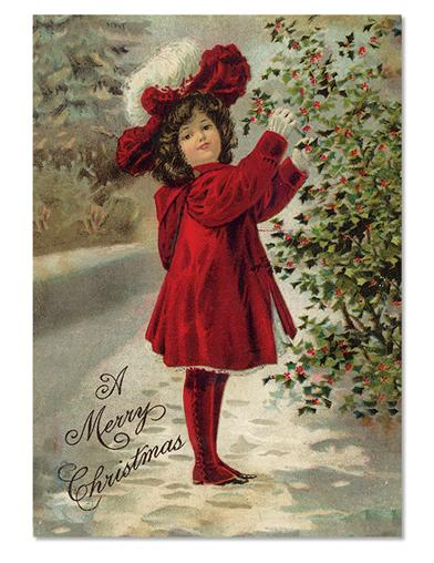 Girl In Red Holiday Cards (Pkg Of 10)