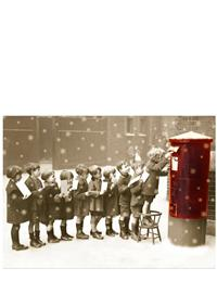 Kids Mailing Letters Christmas Card (Pkg Of 10)