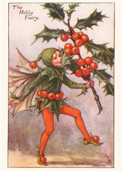 HOLLY BERRY FAIRY (PKG OF 10 HOLIDAY CARDS)