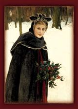 A WINTER BOUQUET (PKG OF 10 HOLIDAY CARDS)