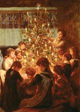 GATHERED ROUND THE TREE (PKG OF 10 HOLIDAY CARDS)
