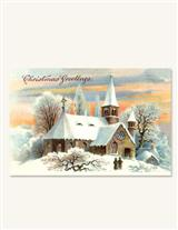 PEACE & LOVE SURROUND (PKG OF 10 HOLIDAY CARDS)