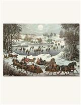 CURRIER & IVES (PKG OF 10 HOLIDAY CARDS)