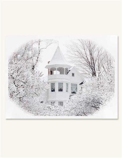 HOUSE IN SNOW (PKG OF 10 HOLIDAY CARDS)