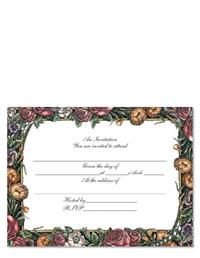 GARDEN PANEL INVITATIONS (PKG OF 8)