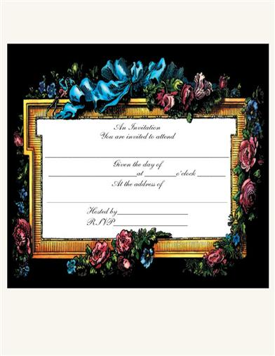 BEAU PANEL INVITATIONS (PKG OF 8)