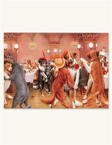 DOGS DANCING PARTY INVITATIONS (PKG OF 8)