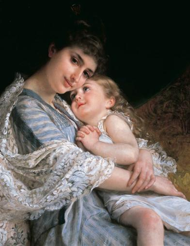 Mother's Day/woman Holding Girl (Single Card)