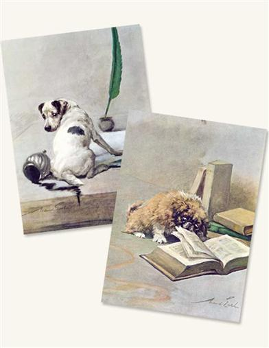 LITERARY DOG (PKG OF 8 NOTECARDS)