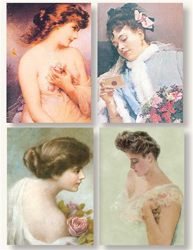 VICTORIAN BEAUTIES (PKG OF 8 NOTECARDS)
