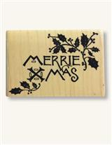 MERRIE XMAS RUBBER STAMP