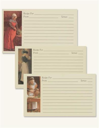 FRENCH BAKER RECIPE CARDS (12 PACK)