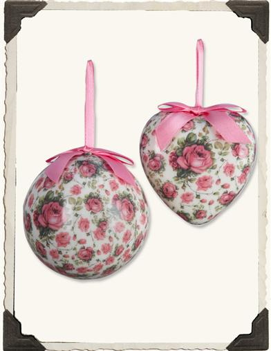 PINK ROSE ORNAMENT (PICK AT RANDOM)