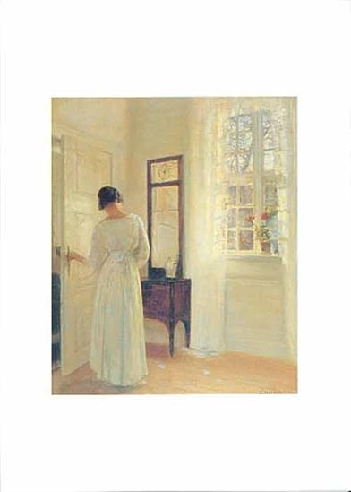 Woman In White Room (Pkg Of 6 Mother's Day Cards)